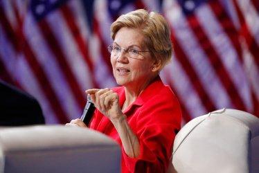 Sen. Elizabeth Warren, D-Mass., speaks during a gun-safety forum in Las Vegas on Oct. 2, 2019. (AP Photo/John Locher)