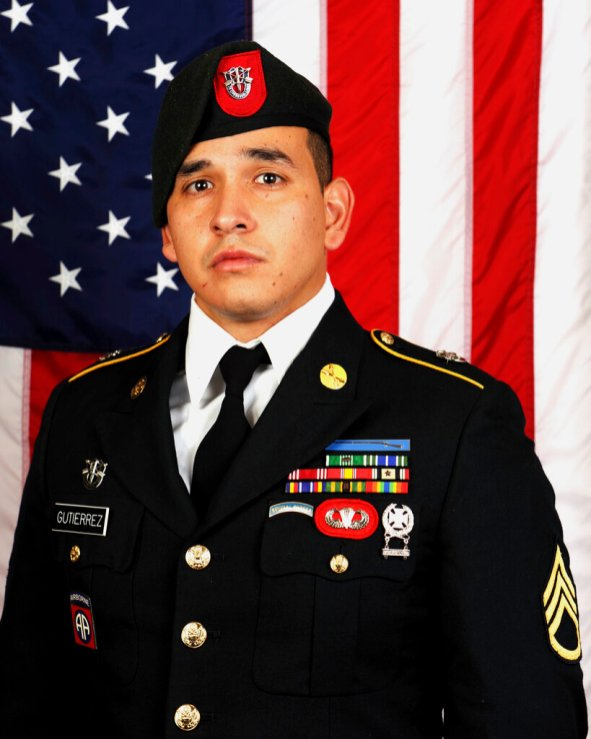 Sgt. 1st Class Javier J. Gutierrez, 28, of San Antonio, Texas, who died Feb. 8, 2020, from wounds sustained during combat operations in Nangarhar Province, Afghanistan. (U.S. Army Special Operations Command via AP)