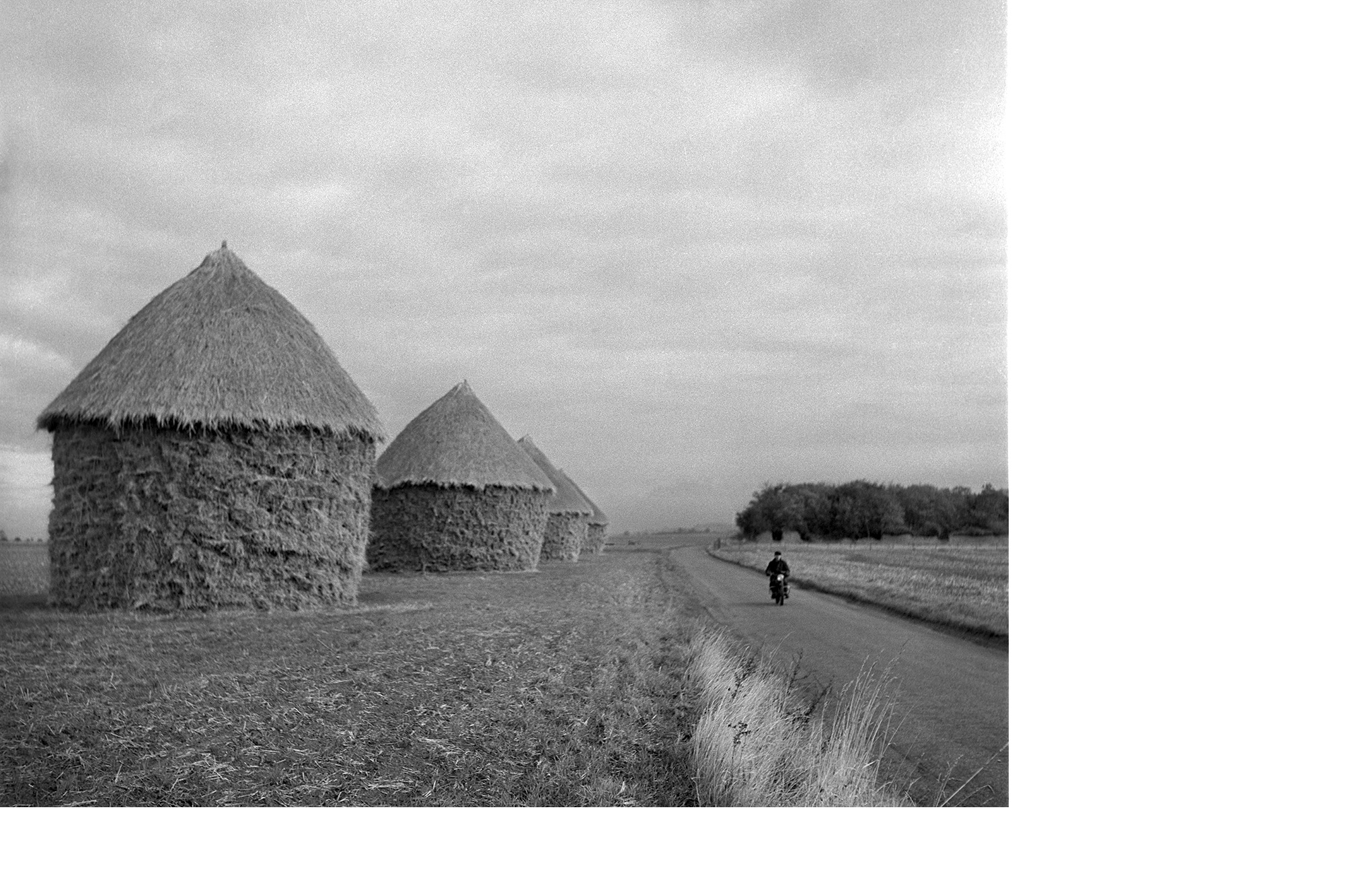 Haystacks in northern France (Walt Girdner photo)