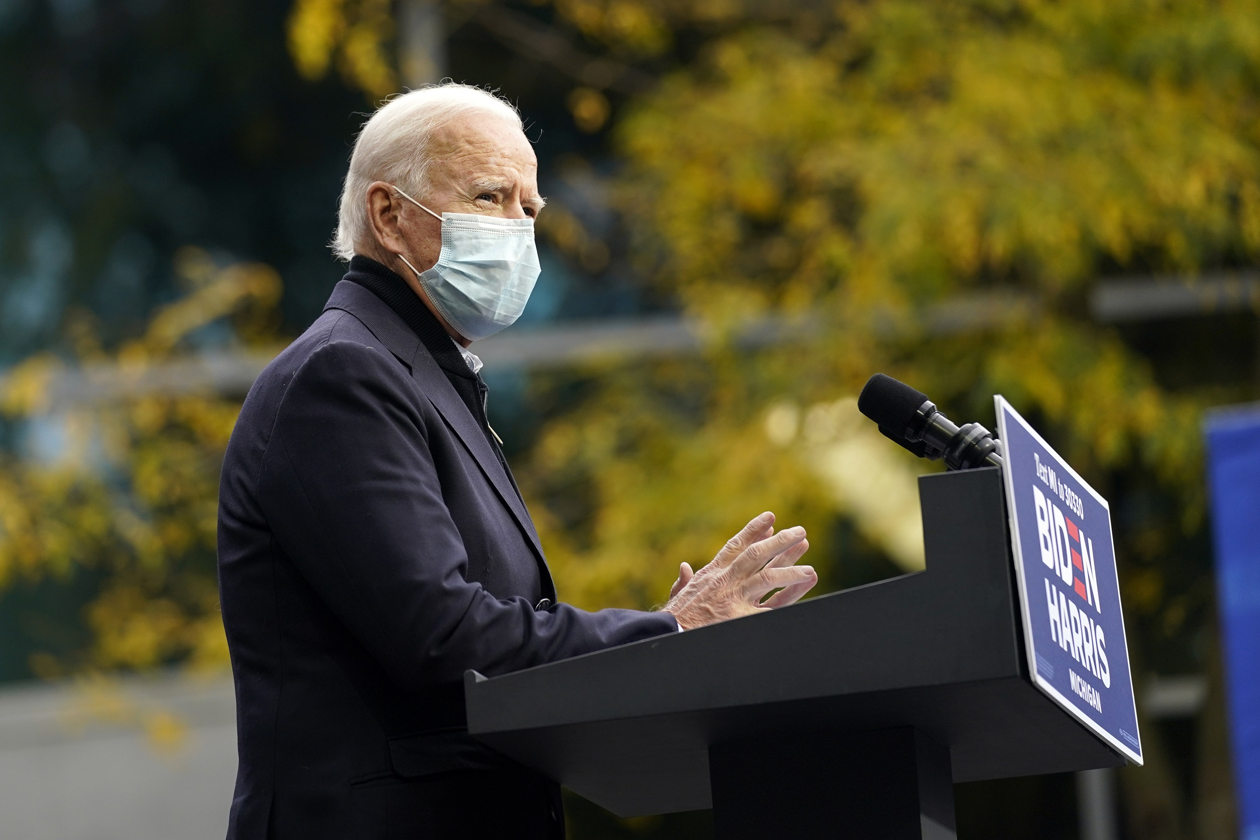 Biden Warns of Virus Threat at Michigan Campaign Stop