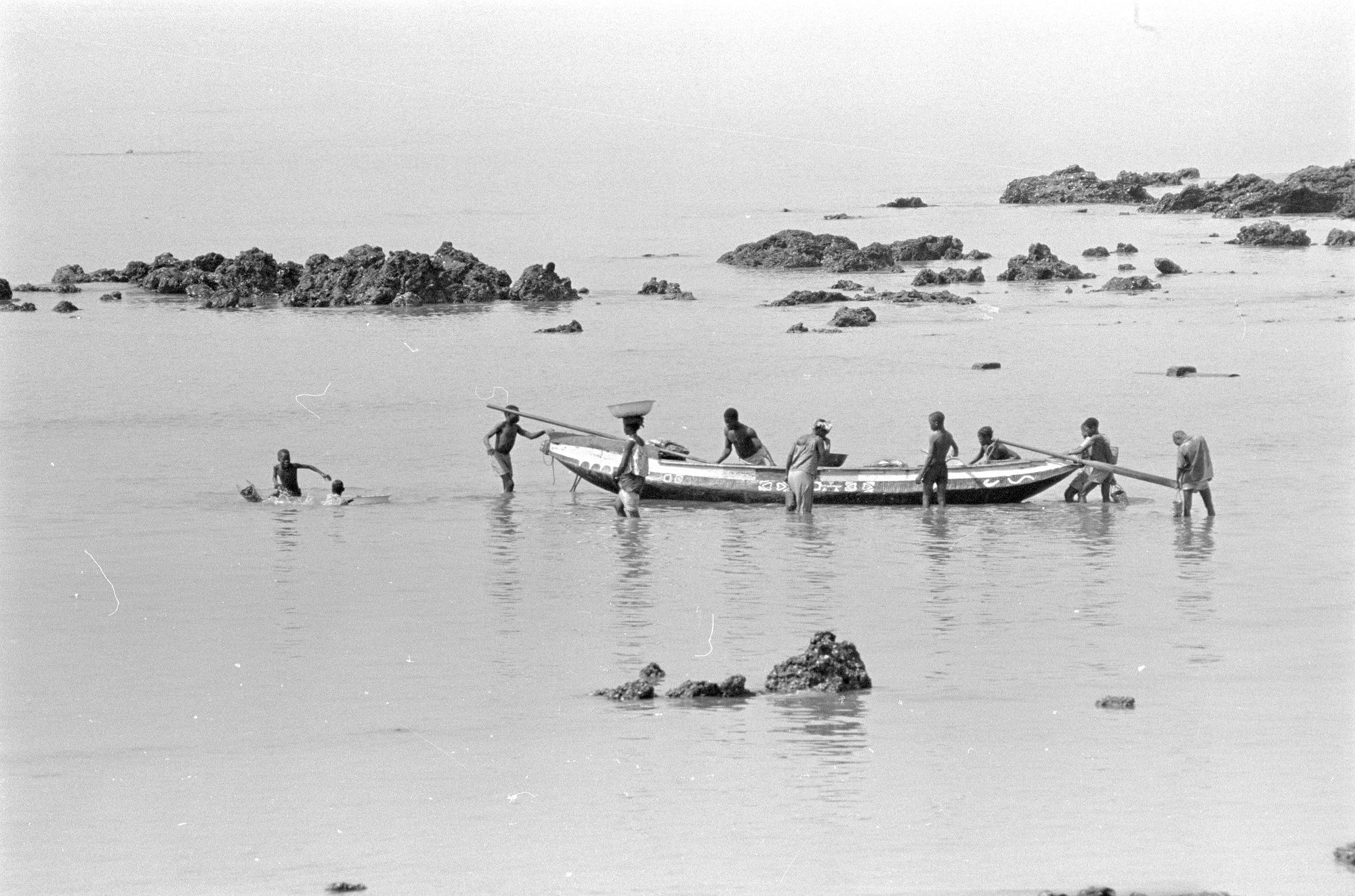 Fishermen in Sierra Leone. From Walt Girdner's Africa collection.