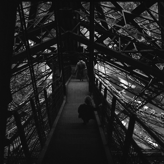 Inside the Eiffel Tower. From Walt Girdner's Paris collection.