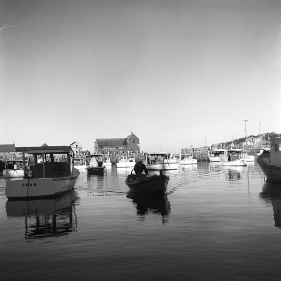 Walt Girdner's brother William lived in Carmel Highlands and together they often visited the harbor in Monterey, where this picture may have been taken.