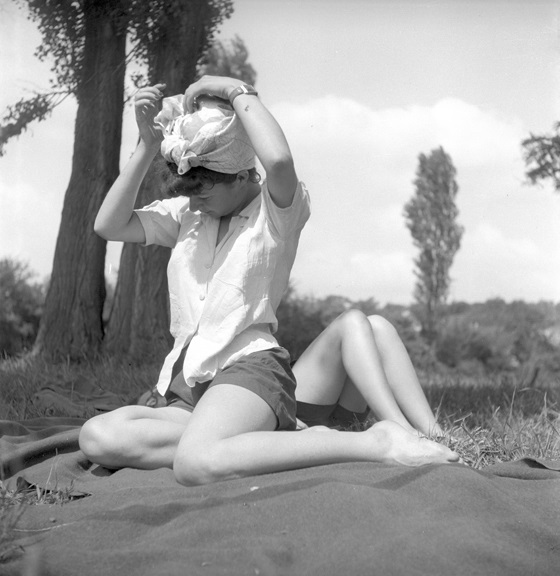 Enjoying the afternoon in the French countryside. From Walt Girdner's Paris collection.