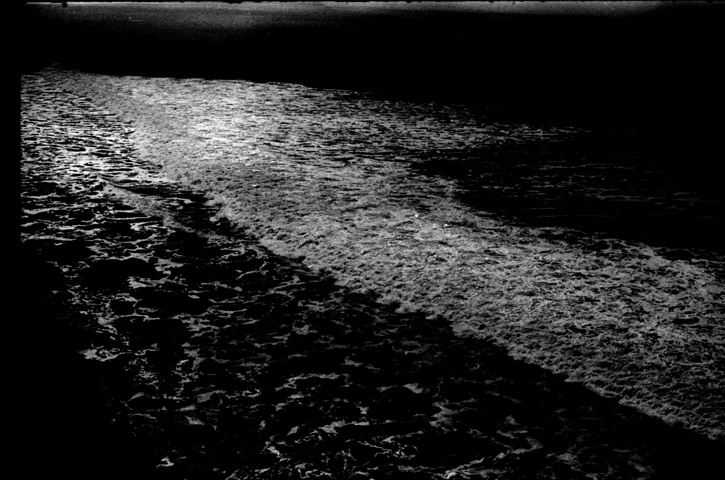 Baja waves in moonlight. From Walt Girdner's Mexico collection.