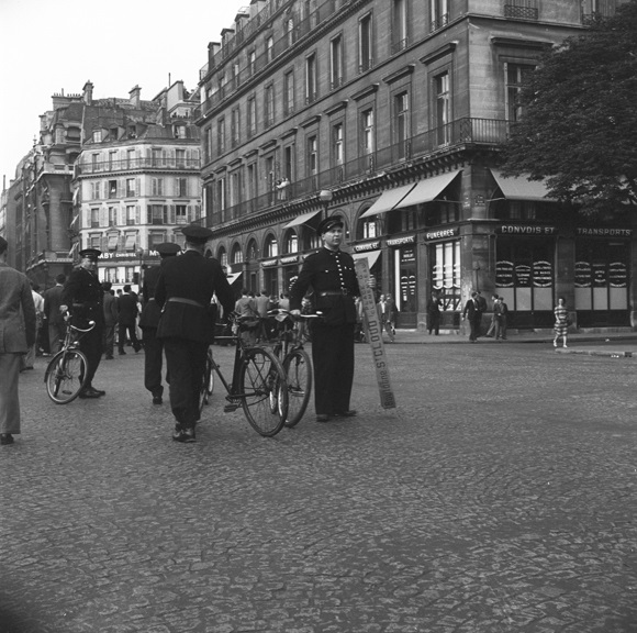 Bicycle cops on the streets of Paris. From Walt Girdner's Paris collection.