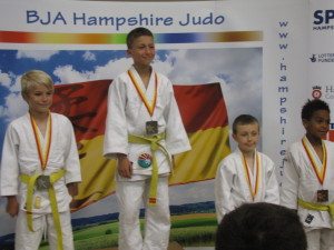 Marcus on the medal podium
