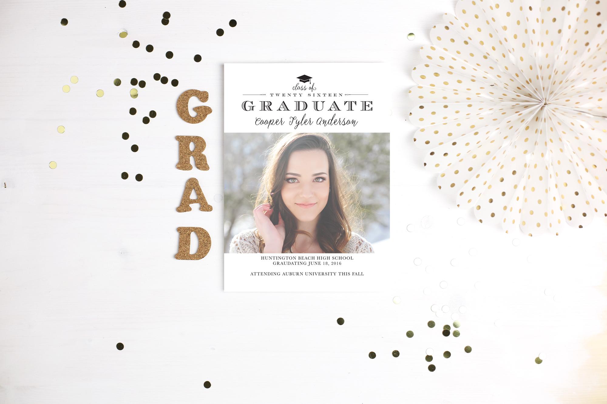 graduation announcements by basic