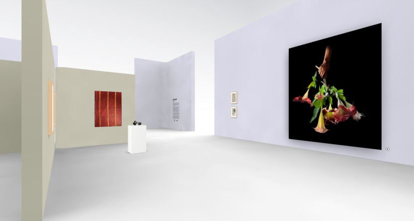 the inside of a virtual gallery