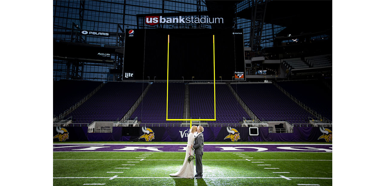 us bank stadium minneapolis wedding photographer