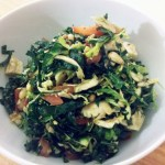 Caprese Brussels Sprout Kale Salad