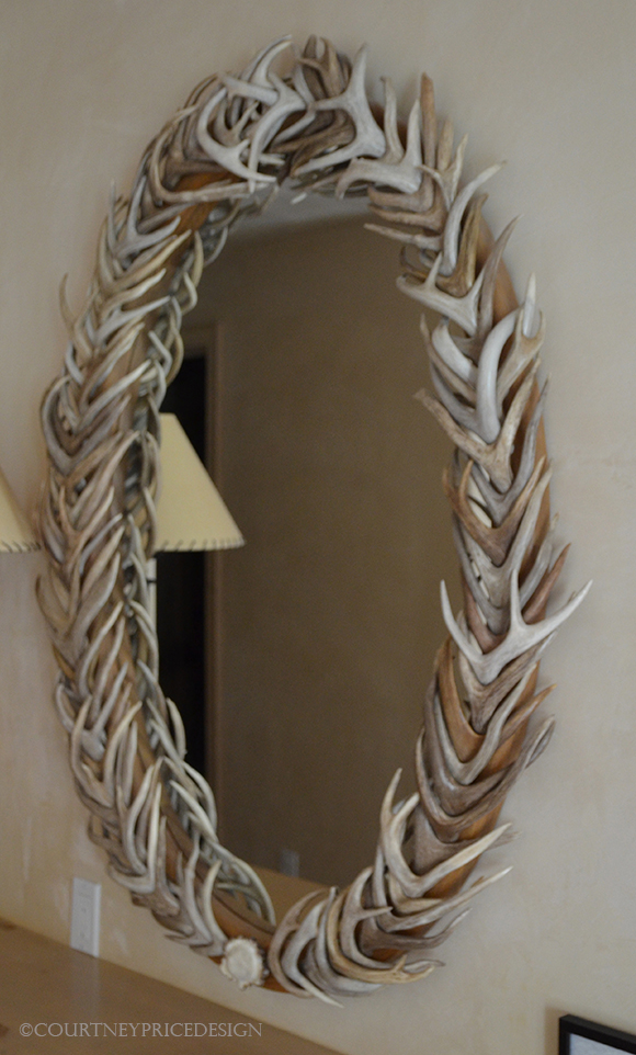 antler mirror, ski house, mountain home