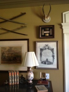 Antler decor, antlers on the wall