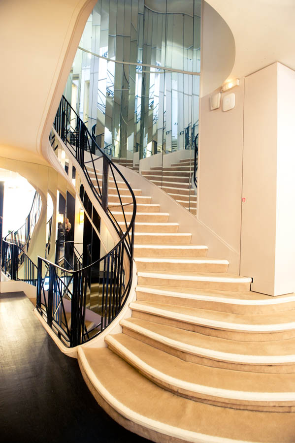Coco Chanels famous stairwell, inspiration for the NYC Ralph Lauren Home flagship? as seen on www.CourtneyPrice.com