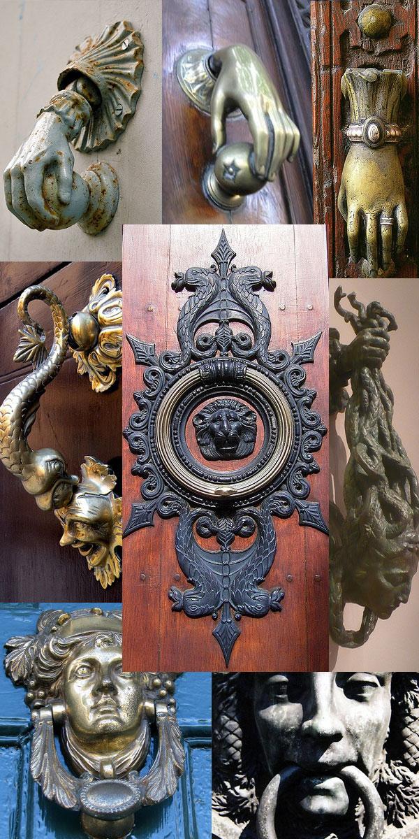 Door knockers, door hardware