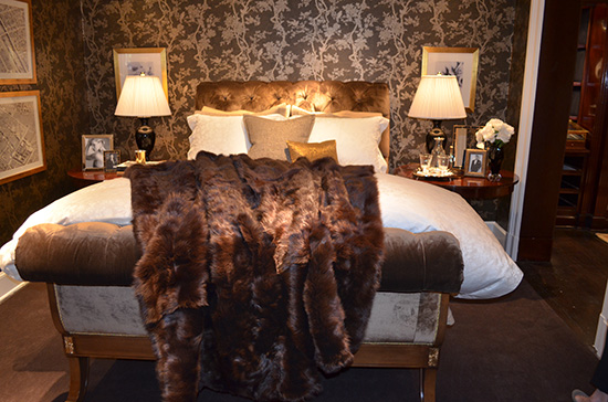 Brown and white bedroom, comfortable bedroom