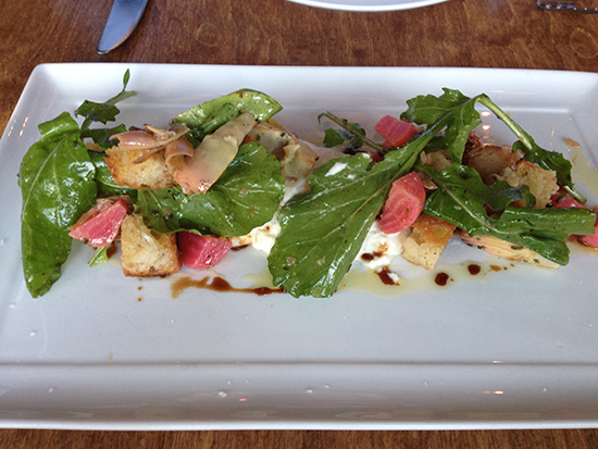 Farm to table, fresh salads, organic salads, healthy cuisine, arugula and watermelon