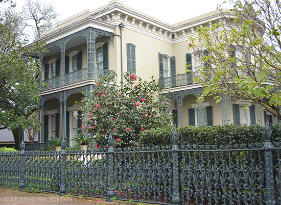 Corn Stalk Fence, famous New Orleans houses, Prytania Street, Garden District, 4th street, on www.CourtneyPrice.com