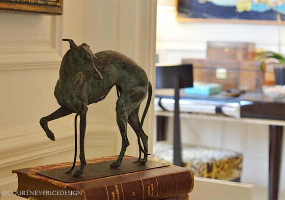 Bronze Dog, accessory, greyhound bronze, table decoration, sculpture