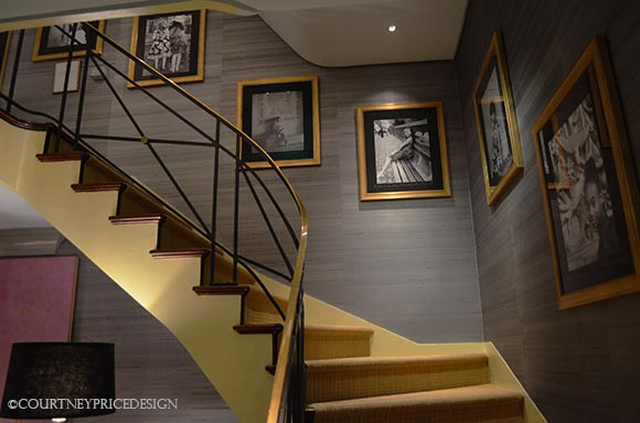 Stairwell, black and white photos