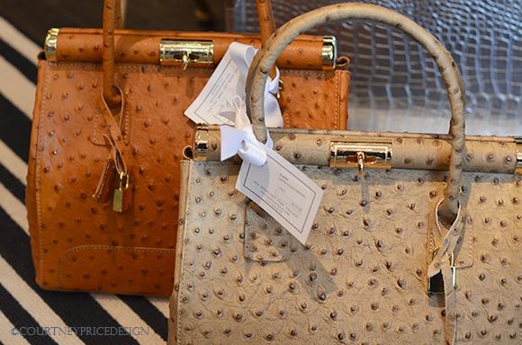 Hermes inspired handbags, ostrich purse