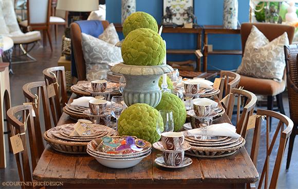 Entertaining Accessories, Tablescape, Mecox Store Dallas, home furnishings, white furniture, accessories, art, 75205