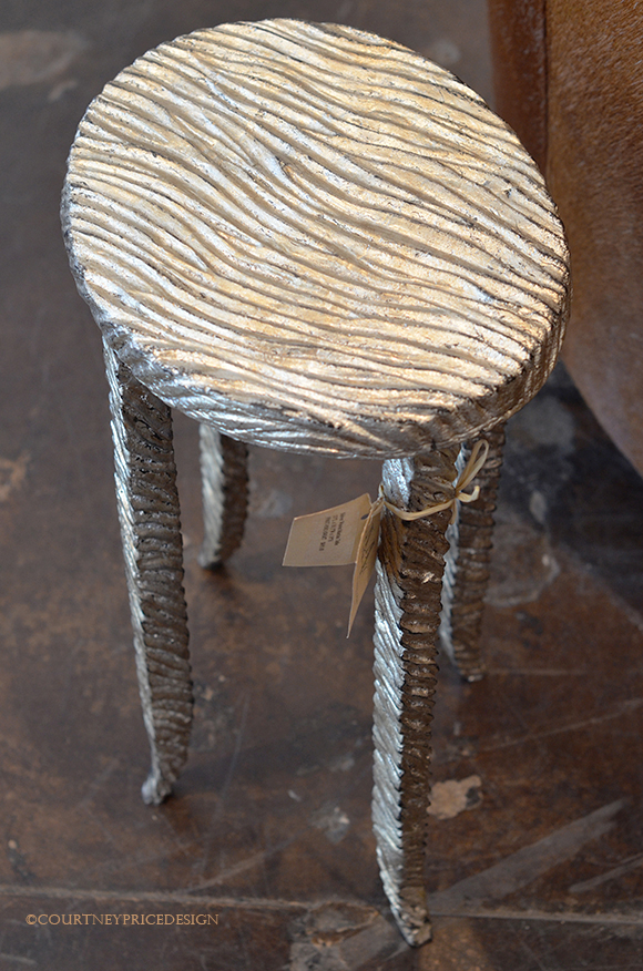 Side Table, cocktail table, drinks table, decorative table, silver table