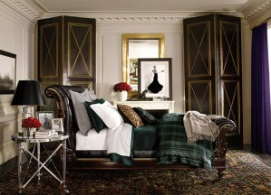 Ralph Lauren, Apt No 1, bedroom, interior design, british style