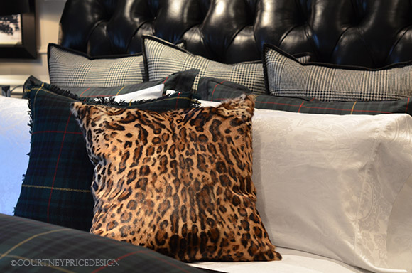 Ralph Lauren, pillow, Keeley Ocelot, leopard pillow, as seen on CourtneyPrice.com