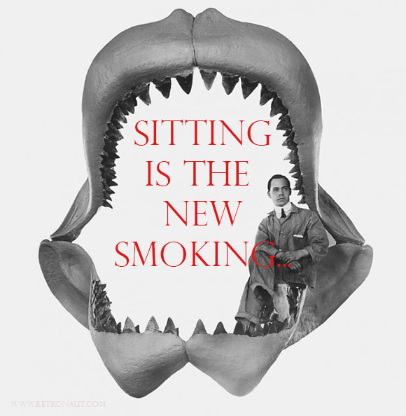 Sitting Is The New Smoking, shark jaws, dangers of sitting, gluteal amnesia, hamstring dominance