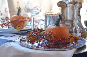 Thanksgiving table, pumpkin decorations, fall table setting, holiday table decor