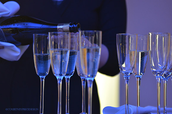 Champagne at a party, New years eve, champagne toast