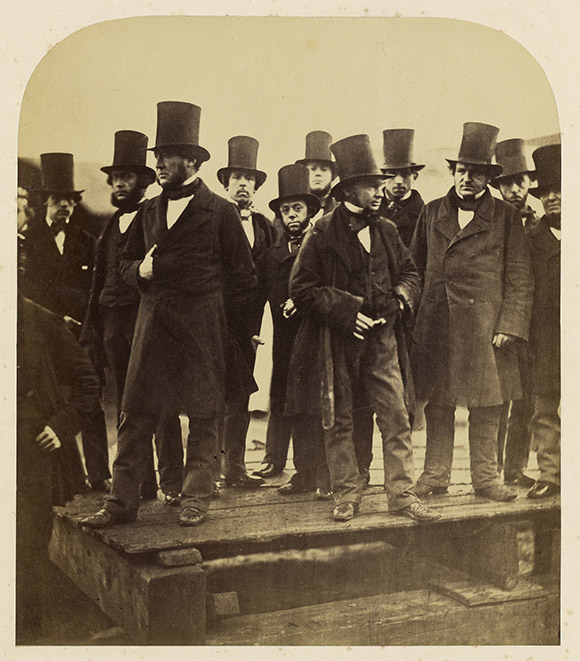 Queen Victoria, photography collection, Getty exhibit, men in Top Hats, top hats, old photographs, black and white photography