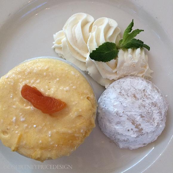 Alex Hitz's apricot mousse on www.CourtneyPrice.com