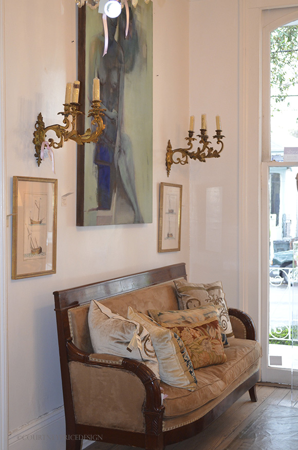 antiques with contemporary art on www.CourtneyPrice.com