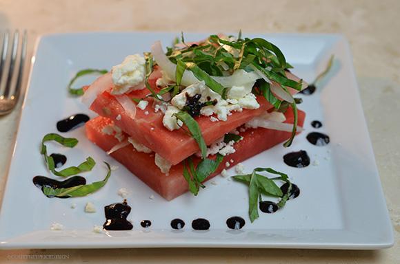 Layered Watermelon Salad on www.CourtneyPrice.com