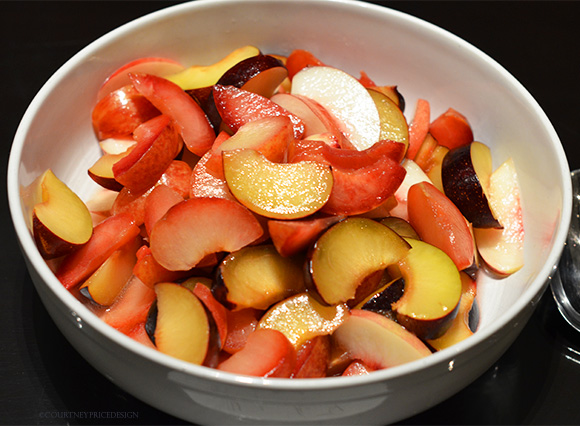 Peach And Plum Salad and fruit salad dressings on www.CourtneyPrice.com