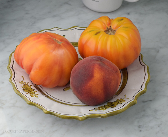 Heirloom Tomatoes Peach Salad on www.CourtneyPrice.com