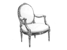 Louis XVI chair, oval back chair, decorative arts glossary,French Furniture, www.CourtneyPrice.com