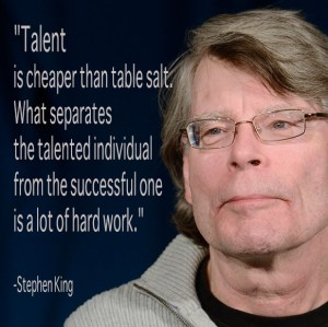 Stephen King quote- talent, on www.CourtneyPrice.com