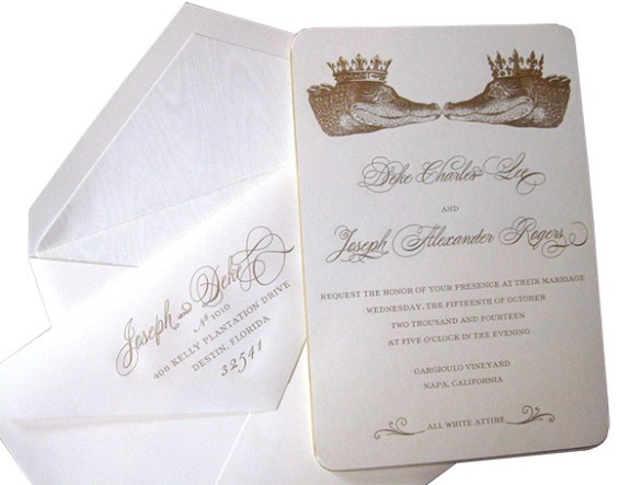 Custom invitations by Alexa Pulitzer on www.CourtneyPrice.com