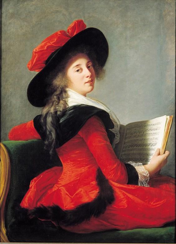 Elisabeth Louise Vigée Le Brun,Baronne de Crussol Florensac, 1785 Oil on wood, 44 3Ž4 x 33 1/8 in. (113.8 x 84 cm) Musée des Augustins, Toulouse http://wp.me/p2e5e8-4WI