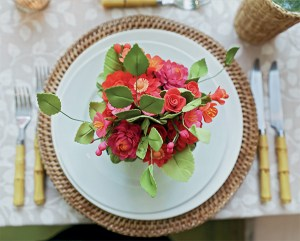 Charlotte Moss Place Setting as seen on www.CourtneyPrice.com