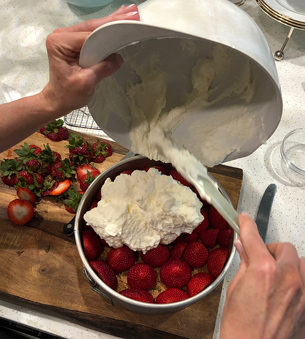 Strawberries and Cream. Not just any cream... see recipe for Strawberries Pompidou on www.CourtneyPrice.com
