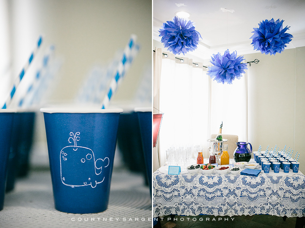 Laceys DIY Blue Whale Themed Baby Sprinkle  Courtney Sargent Photography