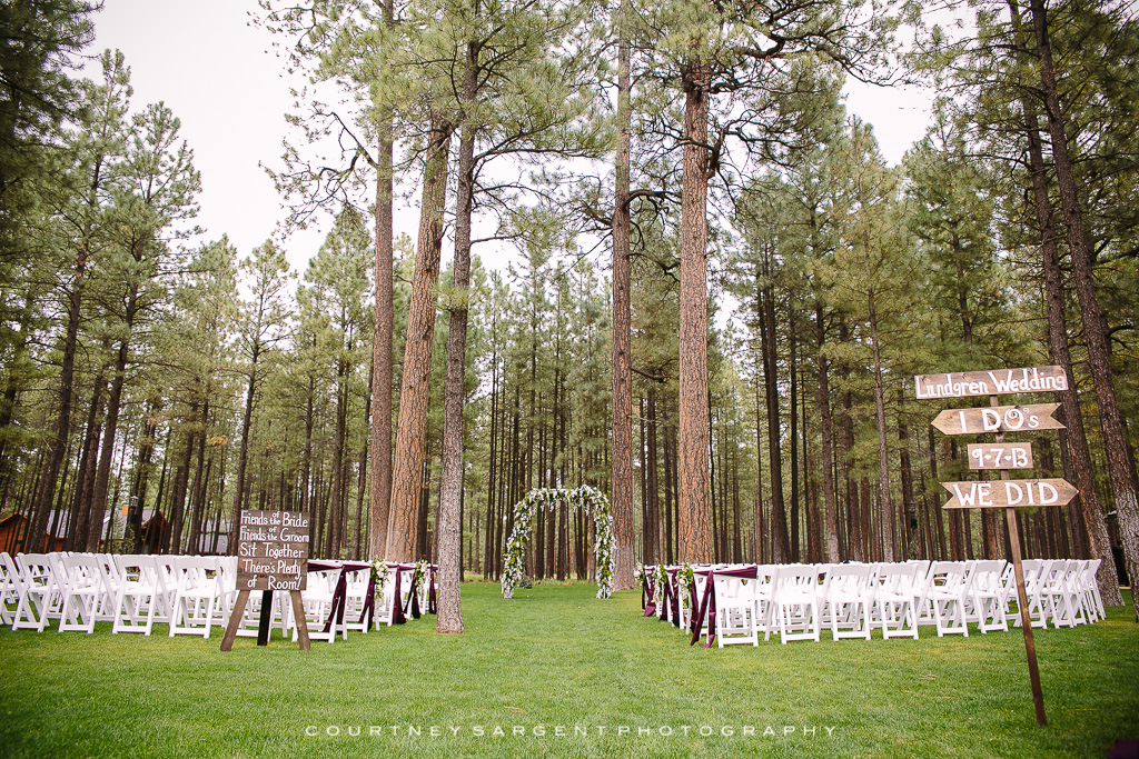Randi  Matts Pinetop Wedding at The Gathering Place