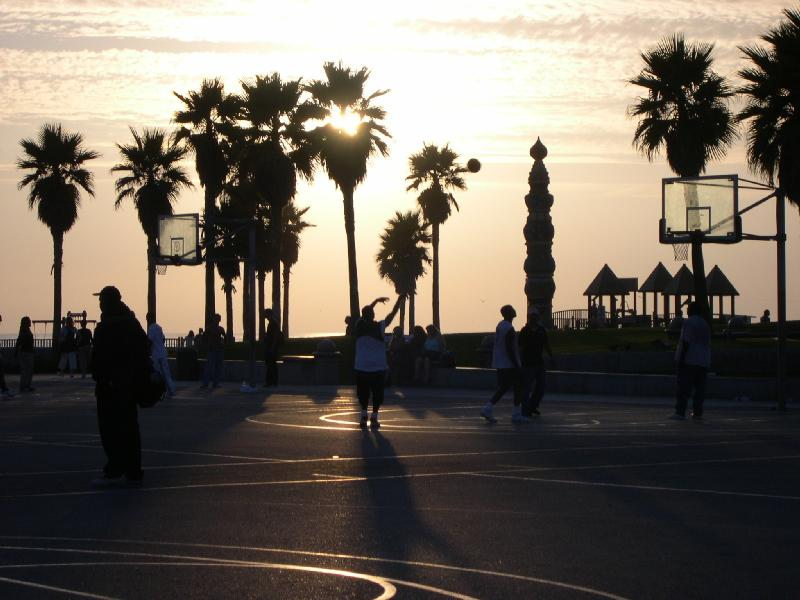 Ocean Iphone Wallpaper Hd Los Angeles Ca Basketball Court Venice Beach Courts Of