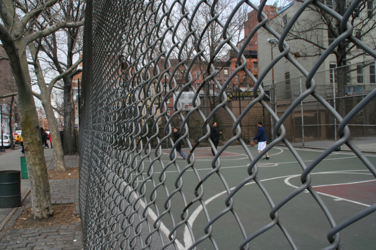New York City NY Basketball Court The Cage  Courts of