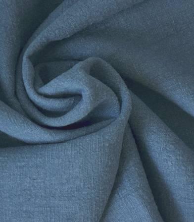 tissu lin lave bleu orage