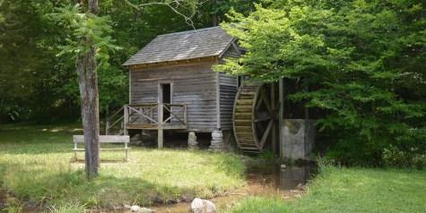 Big Ridge Grist Mill and water wheel